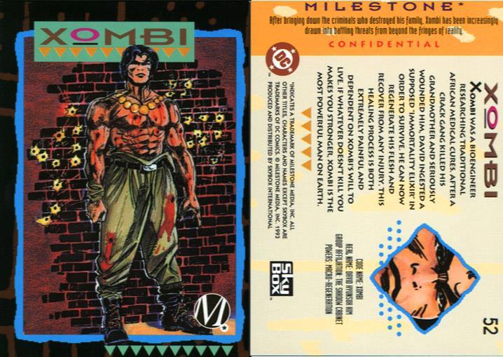 Accelerated Healing-Xombi-Milestone Media Universe Card Set