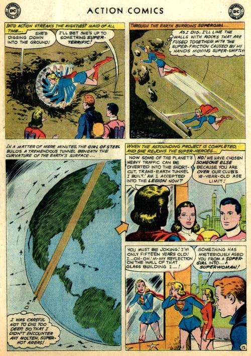 Age Manipulation-Older-Supergirl-Action Comics #267
