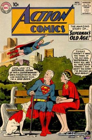 Age Manipulation-Older-Superman-Action Comics V1 #270