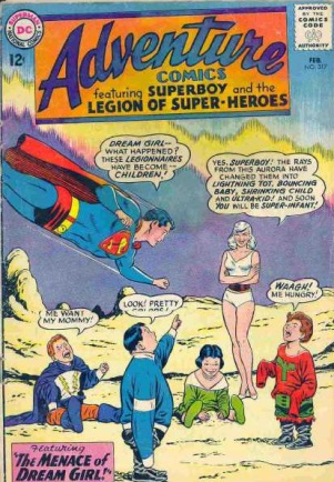 Age Manipulation-Younger-Adventure Comics V1 #317