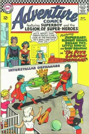 Age Manipulation-Younger-Legion of Super-Heroes-Adventure Comics V1 #356