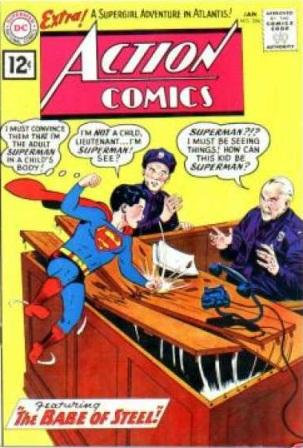 Age Manipulation-Younger-Superman-Action Comics V1 #284