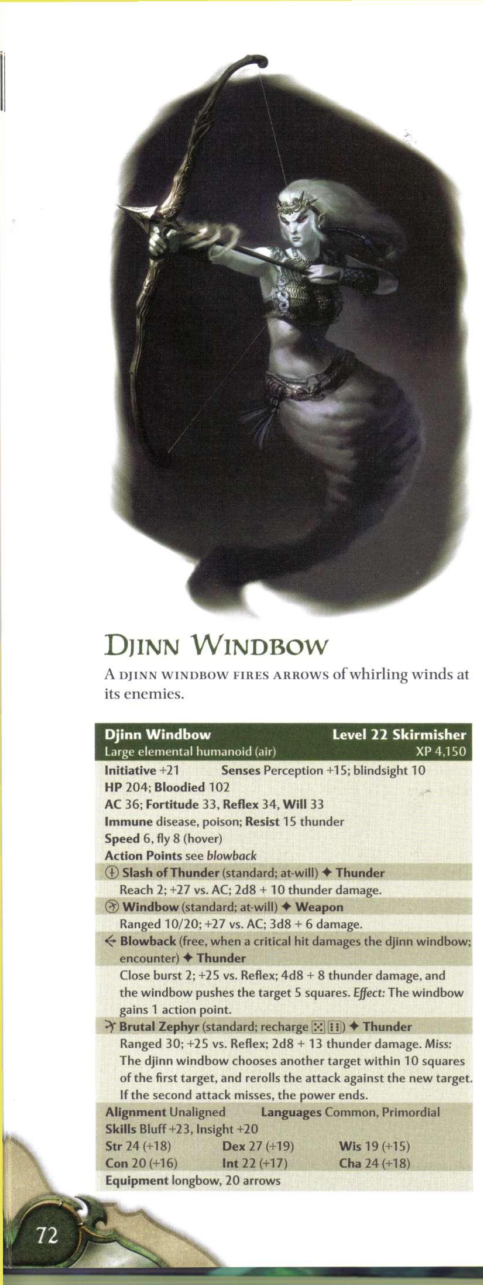Air Manipulation-Djinn Windbow-D&D 4th Edition - Monster Manual 2