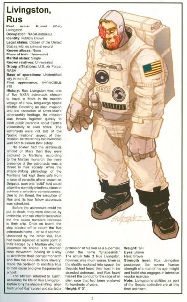 010) Alien Anatomy – Foxhugh Superpowers List