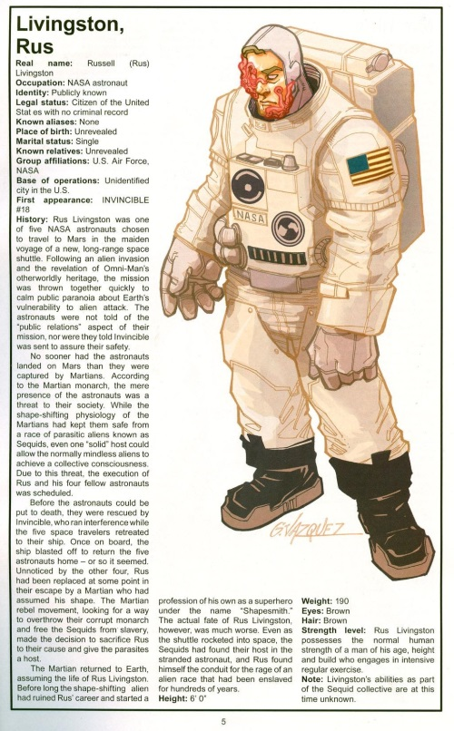 Alien Mimicry-Rus Livingston-The Official Handbook of the Invincible Universe #2 (Image)