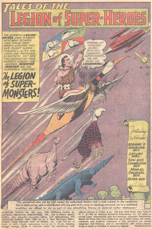 Animal Control-Monster Master-Legion of Super-Heroes-Adventure Comics V1 #309