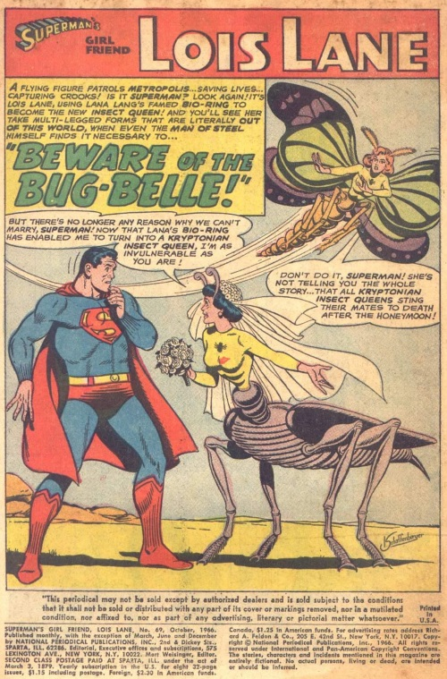 Animal Mimicry (category)-Insect Queen (DC)-Superman's Girl Friend #69