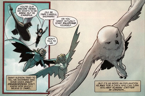 Animal Mimicry (category)-Snowbird(Marvel)