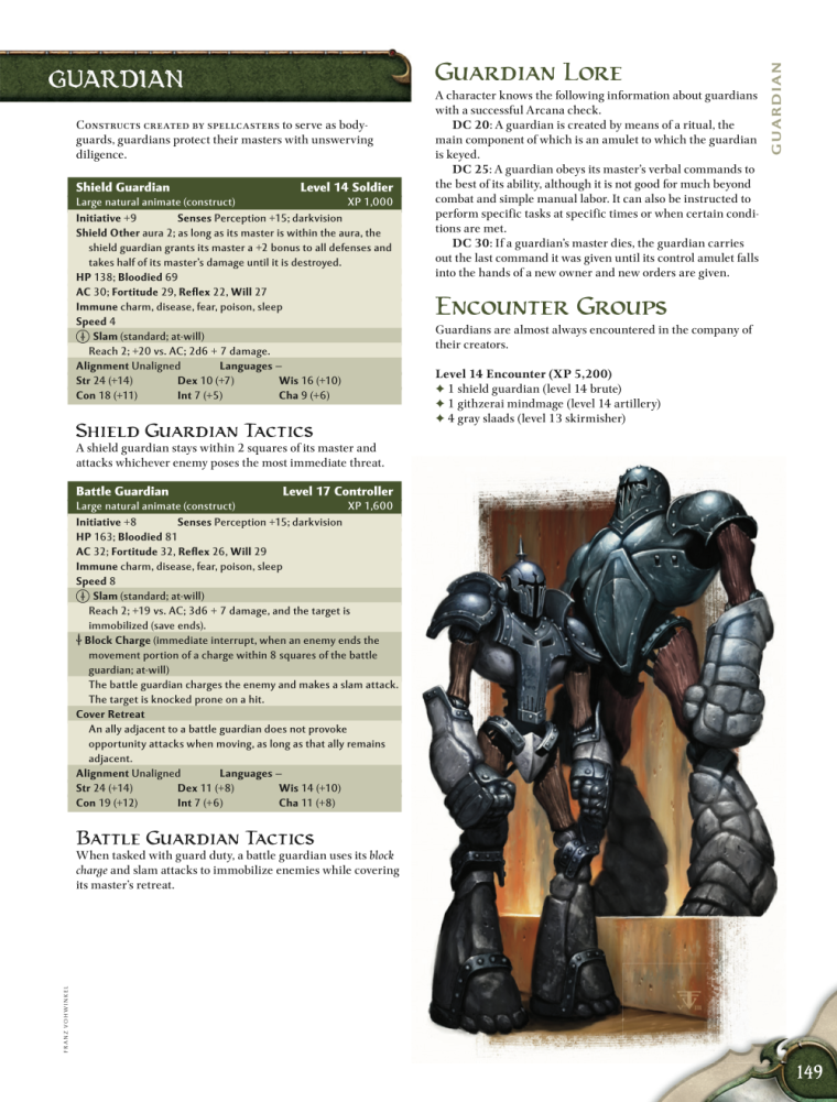 Animate Objects-Guardian-D&D 4th Edition - Monster Manual