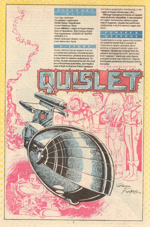 Animate Objects-Quislet-DC Who's Who #19