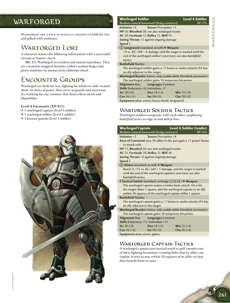 Animate Objects-Warforged-D&D 4th Edition - Monster Manual 1