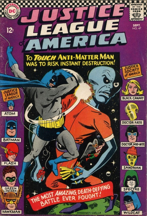 AntiMatter Mimicry-Anti-Matter Man-Justice League of America V1 #47 (1966)-1