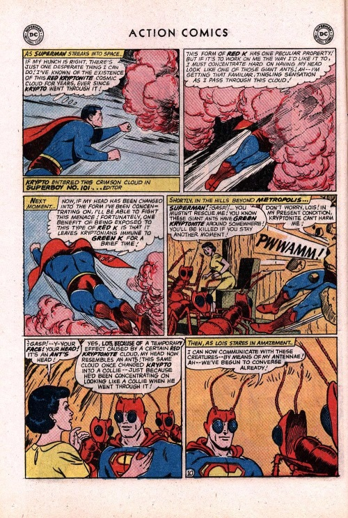 Appendages (antennae)-Superman-Action Comics V1 #296