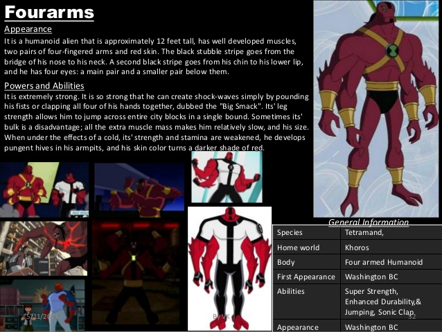 Appendages (arms)-Ben 10-Four Arms