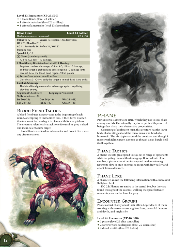 Appendages (arms)-D&D-Blood Fiend-D&D 4th Edition - Monster Manual 1