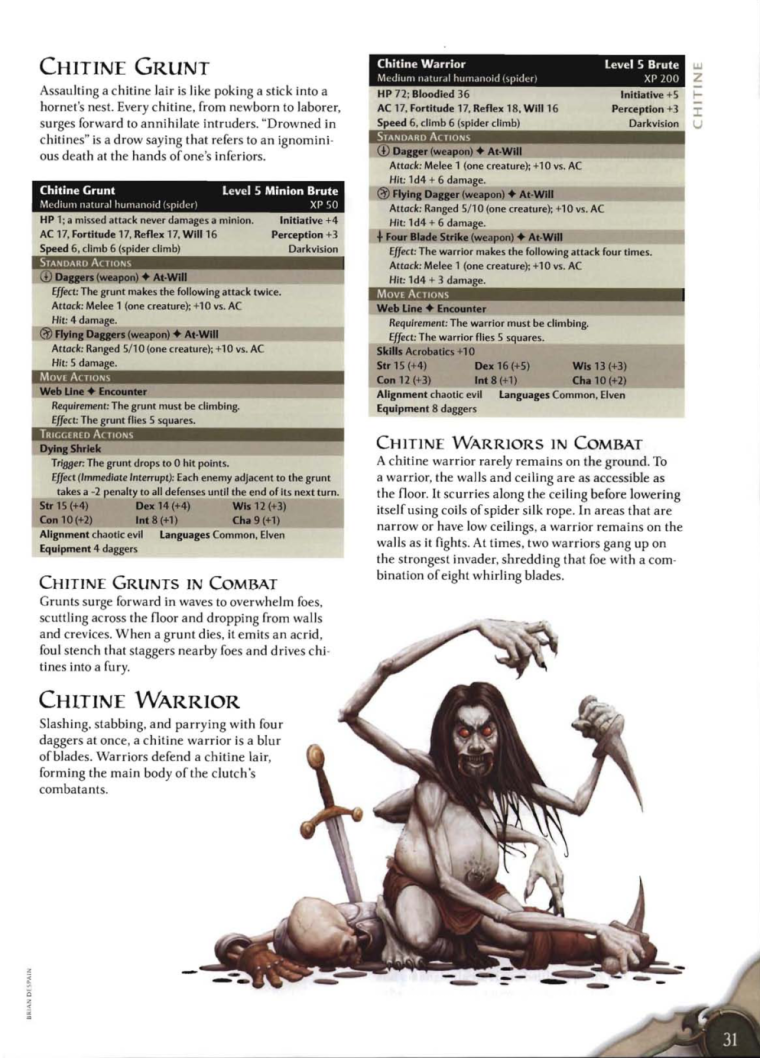 Appendages (arms)-D&D-Chitine-D&D 4th Edition - Monster Manual 3