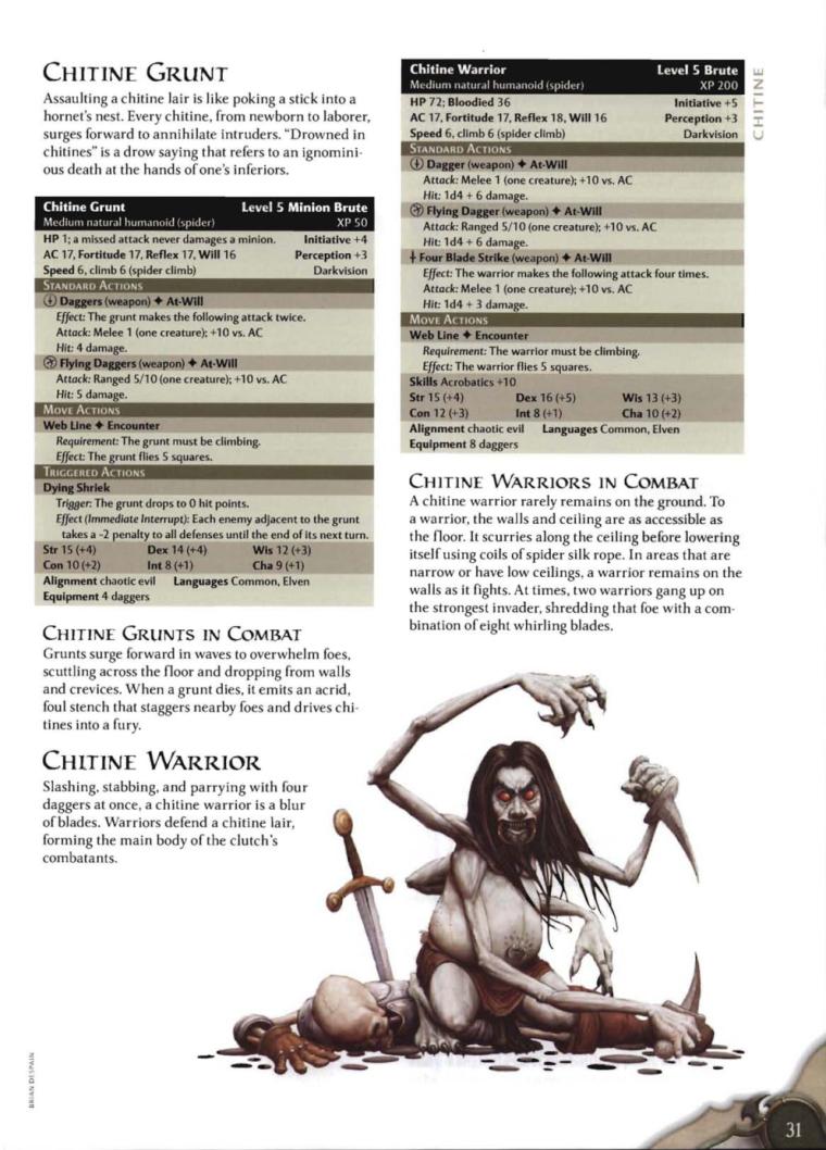Appendages (arms)-D&D-Chitine-D&D 4th Edition - Monster Manual 3