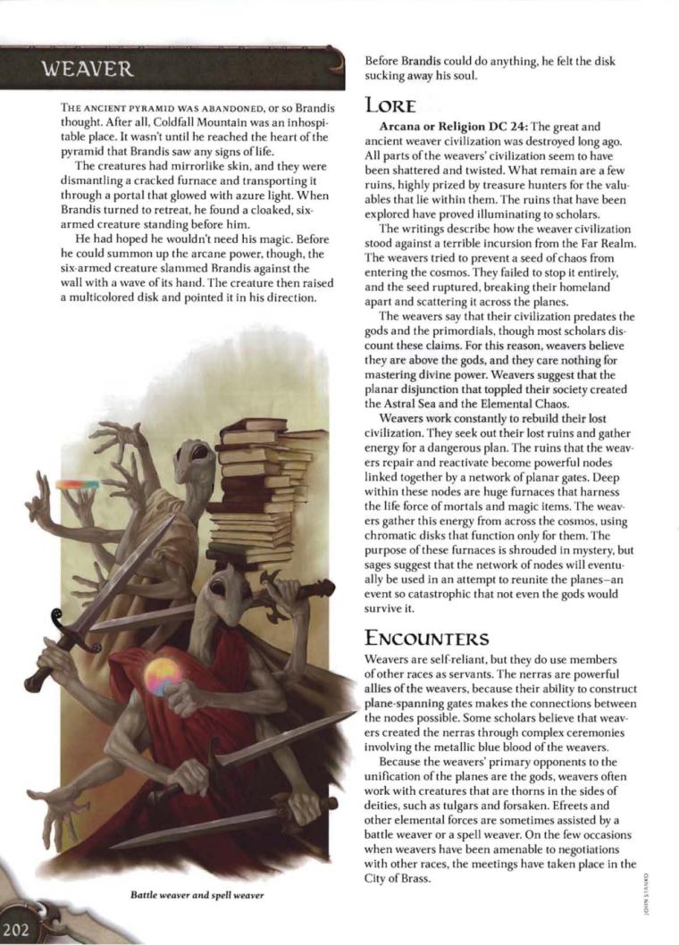 Appendages (arms)-D&D-Weaver-D&D 4th Edition - Monster Manual 3