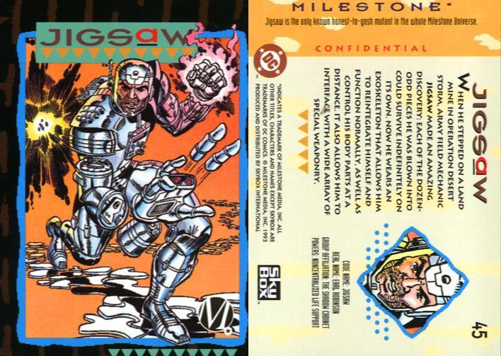 Appendages (detachable)-Jigsaw-Milestone Media Universe Card Set