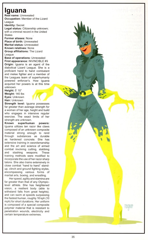Appendages (fangs-nails)-Iguana-Official Handbook of the Invincible Universe #1