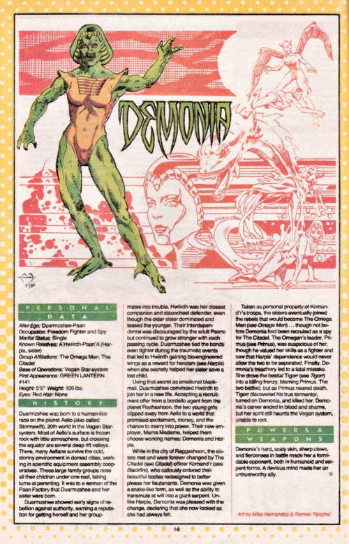 Appendages (fangs-nails)Demonia-DC Who's Who #6