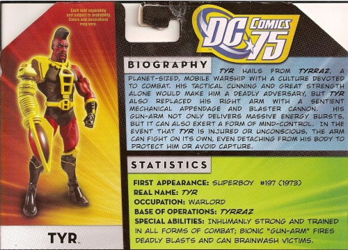 Appendages (firearm)-Tyr Action Figure Bio