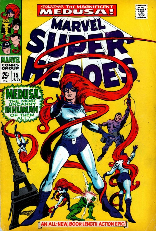 Appendages (hair)–Medusa-Marvel Super-Heroes V1 #15