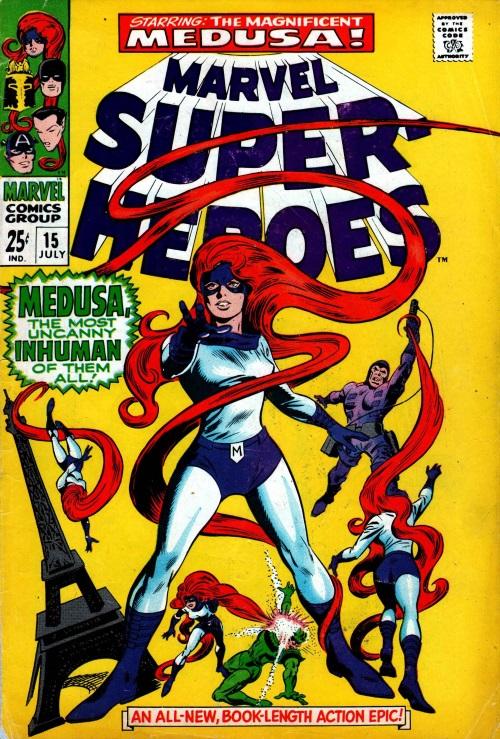 Appendages (hair)–Medusa-Marvel Super-Heroes V1 #15