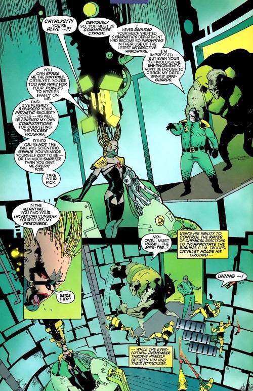 Appendages (tentacles)-Commander Cypher-Mystique & Sabretooth #4 (Marvel)1