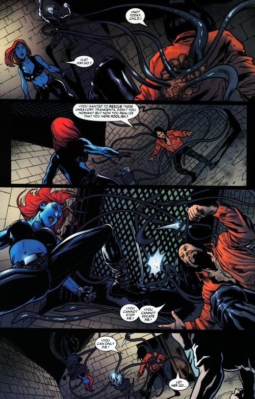 Appendages (tentacles)-Mystique #17 (Marvel)