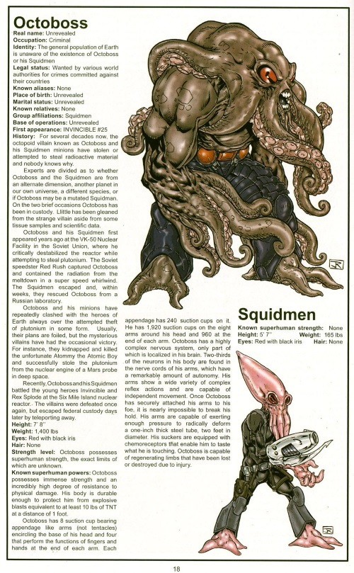 Appendages (tentacles)-Octoboss-Official Handbook of the Invincible Universe #2