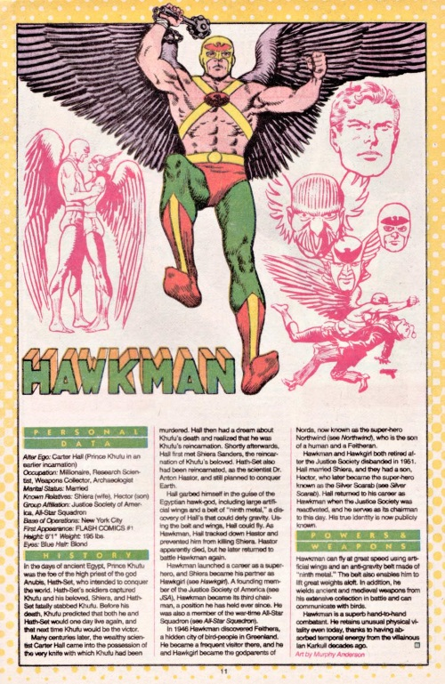 Appendages (wings)–Hawkman-DC Who's Who V1 #10