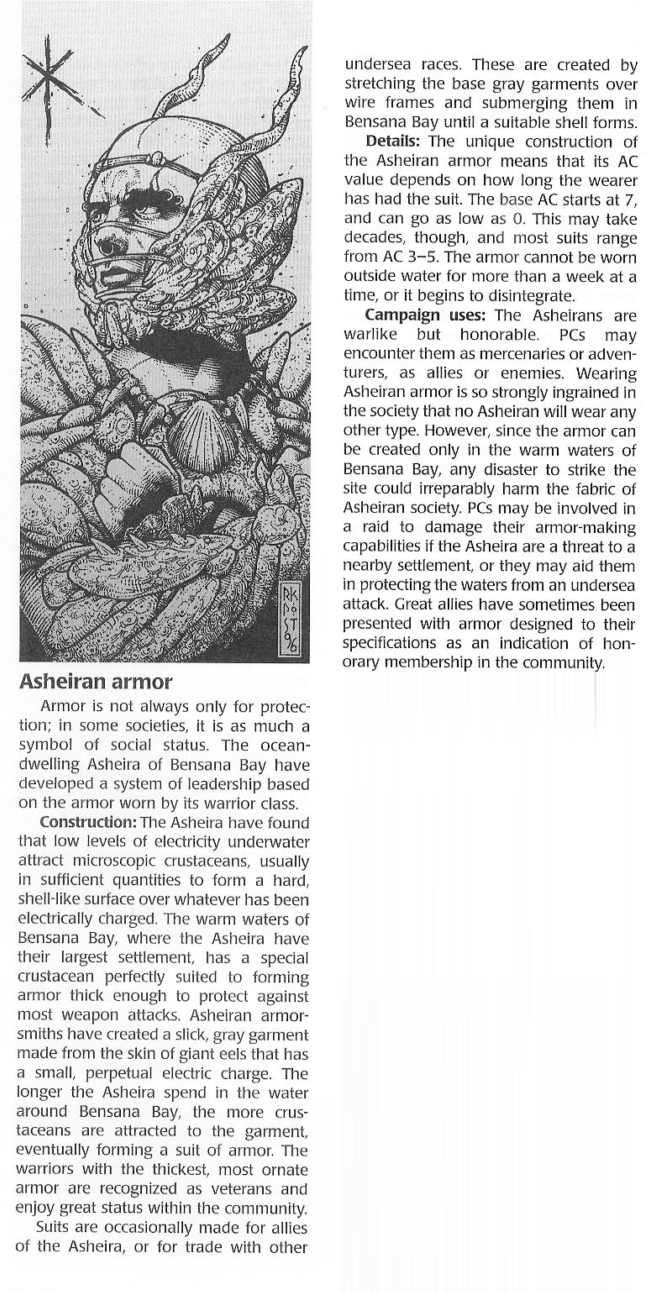 Armor (biological)-D&D-Asheiran Armor-Dragon Magazine Annual 1
