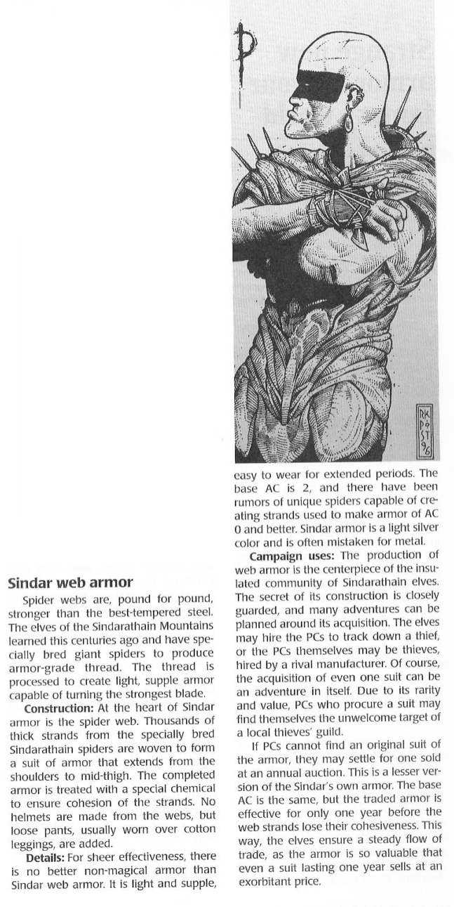 Armor (biological)-D&D-Sindar Web Army-Dragon Magazine Annual 1