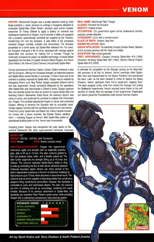 Armor (biological)-Venom-All-New OHOTMU A to Z #12