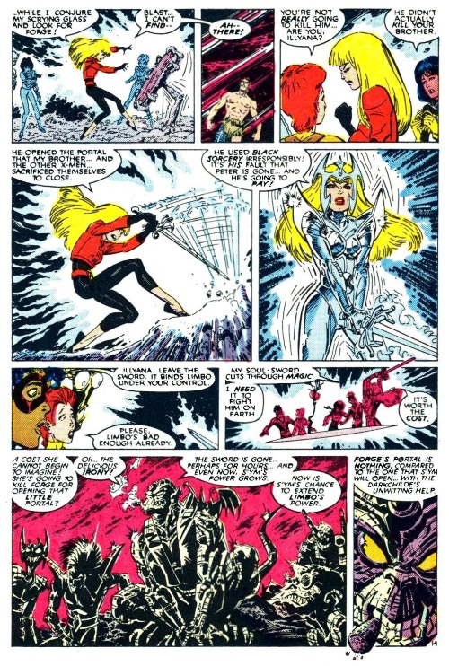 Armor (magical)–Eldritch armor-New Mutants V1 #65