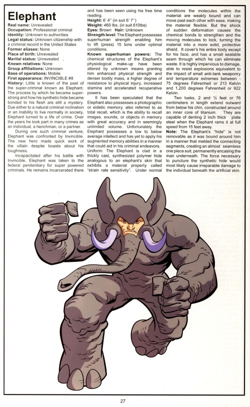 Armor (matter)-Elephant-Official Handbook of the Invincible Universe #1