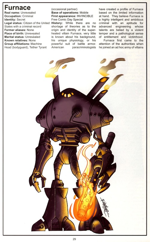 Armor (matter)-Furnace-Official Handbook of the Invincible Universe #1