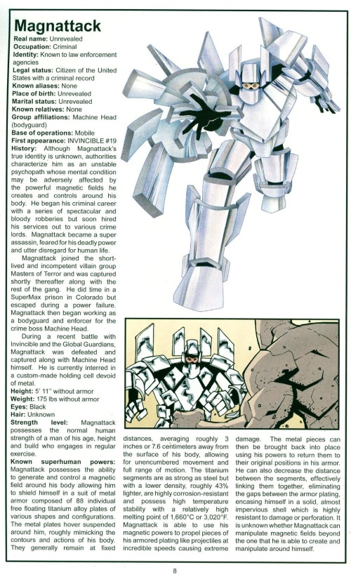 Armor (matter)-Maganattack-The Official Handbook of the Invincible Universe #2 (Image)