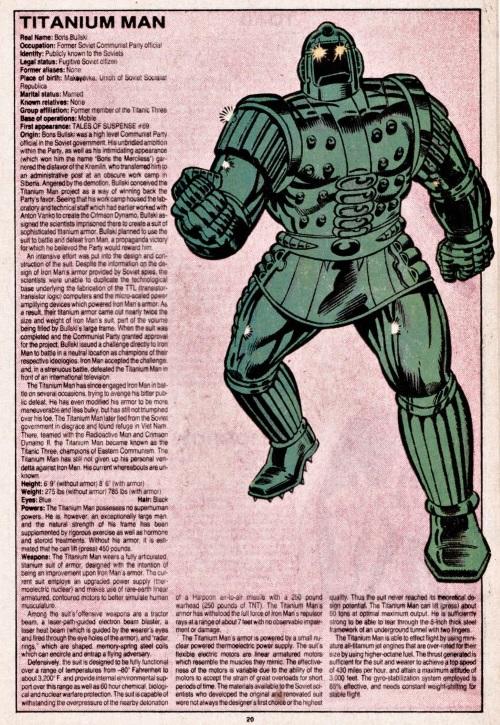 Armor (matter)-Titanium Man-Official Handbook of the Marvel Universe V1 #11