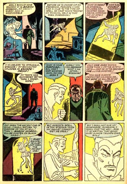 Astral Trapping-Doctor Strange-Strange Tales V1 #117