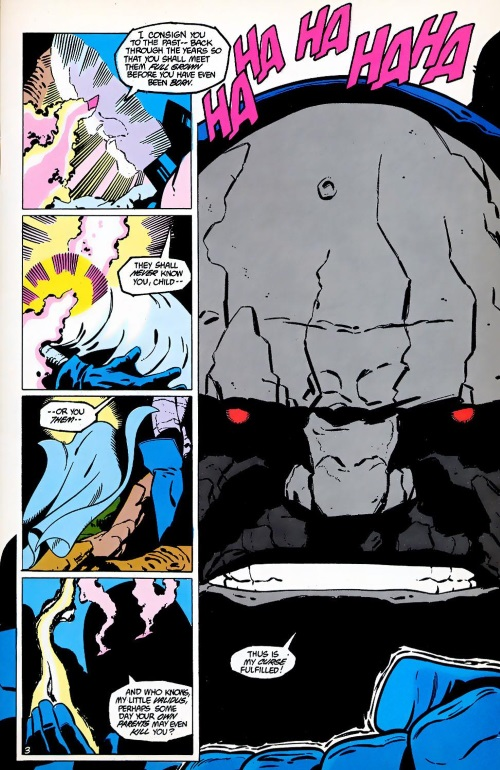 Biological Manipulation (freak)–Darkseid creates Validus-Legion of Super-Heroes Annual V3 #2-4