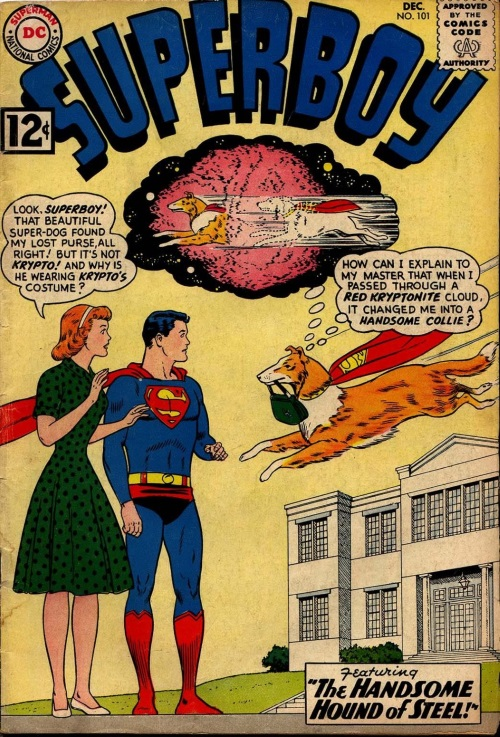 Biological Manipulation (self)–Krypto becomes female collie - Superboy V1 #101-1