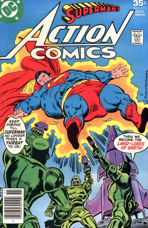 Biological Manipulation (weight)–Superman-Action Comics V1 #477 (DC)