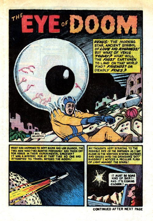 Body Part Disembodied-Basil Wolverton-Eye of Doom-Mystic V2 #6