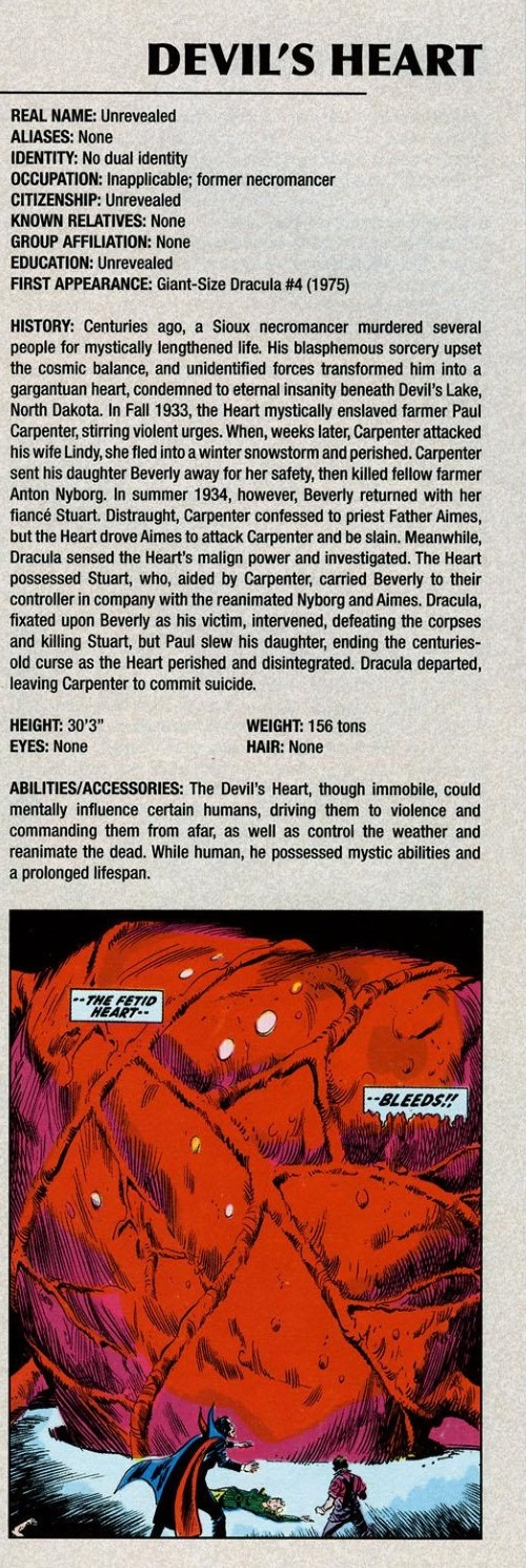 Body Part Disembodied-Devil's Heart-Marvel Legacy The's Handbook #1