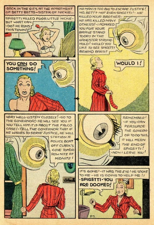 Body Part Disembodied-Eye–Keen Detective Funnies V1 #23