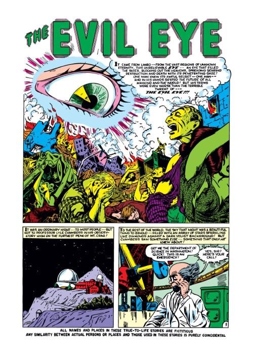 Body Part Disembodied-Eye–Strange Tales #4 (1951)