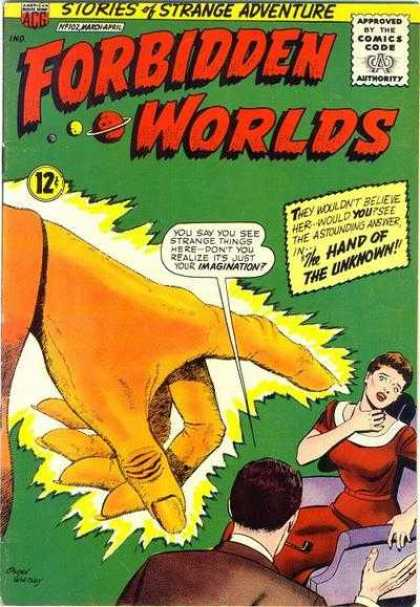 Body Part Disembodied-Hand-OS-Forbidden Worlds #102 (ACG)