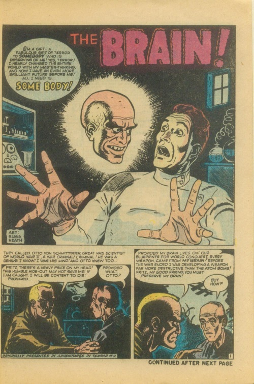 Body Part Disembodied-Head–The Brain-Adventures into Terror #4